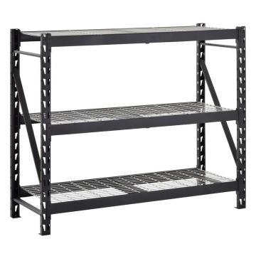 garage storage boltless rivet shelf metal rack with wire board
